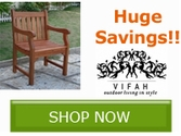 Save up to 40% off Select Outdoor Furniture from Vifah!!