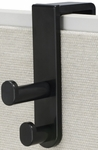 Over the Panel Double Hook - Set of Six - Black [4225BL-FS-SAF]