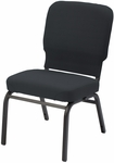 1040 Series Extra Wide Stacking Steel Frame Armless Pew Chair with 3.5'' Upholstered Seat [HTB1040-IFK]