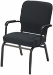 1040 Series Extra Wide Stacking Steel Frame Pew Armchair with 3.5'' Upholstered Seat [HTB1041-SB-IFK]