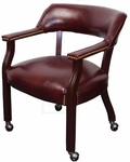 Oxblood Banker's Chair on Casters [105-OXBLOOD-FS-IC]