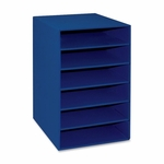 Pacon 6 -Shelf Organizer - 13 -1/2'' x 12'' x 17 -3/4'' - Blue [PAC001312-FS-SP]