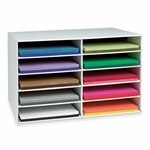 Pacon Construction Paper Storage - 10 Slots - 16 -78'' x 18 -1/2'' x 26 -7/8'' [PAC001316-FS-SP]