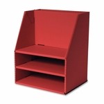 Pacon Desk Organizer - 16 -1/2'' x 13 -1/2'' x 10 -3/4'' - Red [PAC001319-FS-SP]