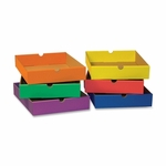 Pacon Drawers -F/6 -Shelf Organizer -12 -1/2'' x 10 -1/4'' x 2 -1/4'' -Assorted [PAC001313-FS-SP]