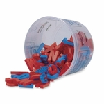 Pacon Magnetic Plastic Letters -Upper Case -1 -1/2'' -108 Ct. -Blue/Red [PAC27530-FS-SP]