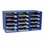 Pacon Mail Box - 15 Slots - 12 -1/2'' x 10'' x 3'' - Blue [PAC001308-FS-SP]