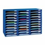 Pacon Mail Box - 30 Slots - 12 -1/2'' x 10'' x 1 -3/4'' - Blue [PAC001318-FS-SP]