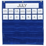 Pacon Monthly Calendar Pocket Chart - 25'' x 28'' - Blue [PAC20200-FS-SP]
