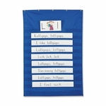 Pacon Pocket Chart - Standard - 34'' x 50'' - Blue [PAC20010-FS-SP]