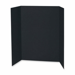 Pacon Presentation Board - 48'' x 36'' - 24/CT - Black [PAC3766-FS-SP]