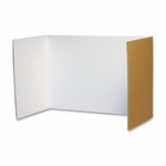 Pacon Corporation Privacy Board - 48'' x 16'' - 4/PK - White [PAC3782-FS-SP]