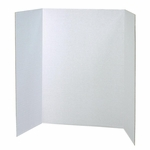 Pacon Single Walled Presentation Board -48'' x 36'' -24/CT -White [PAC3763-FS-SP]