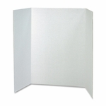 Pacon Single Walled Presentation Board -48'' x 36'' -4/CT -White [PAC37634-FS-SP]