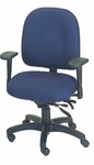 Palisades 24'' W x 22'' D x 35.5'' H Adjustable Height and Width Mid-Back Chair with Executive Control [E-50154-FS-EOF]