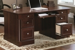 Palladia 65''W x 30''H Wooden Executive Desk with 2 File Drawers - Select Cherry [412902-FS-SRTA]