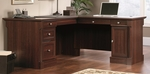 Palladia 65''W x 30''H Wooden L Shape Desk with Locking File Drawers - Select Cherry [413670-FS-SRTA]