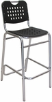 Palm Beach Collection Black Outdoor Barstool [BAL-03-BLACK-FLS]
