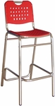 Palm Beach Collection Red Outdoor Barstool [BAL-03-RED-FLS]