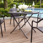 Palm Harbor Outdoor Wicker Folding Table [CO7205-BR-FS-CRO]