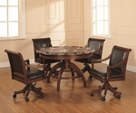 Palm Springs 52''W x 31''H Multi Function Dining and Game Table - Medium Brown Cherry [4185GTB-FS-HILL]