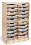 Parent Teacher Communication Center with 20 Clear Gratnell Trays [WB7128-FS-WBR]