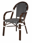 Paris Indoor/Outdoor Arm Chair - Black and White [SC-2203-163-BLACK-WHITE-SCON]