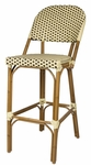 Paris Armless Indoor/Outdoor Bar Chair - Cream and Chocolate [SC-2203-172-CREAM-CHOCOLATE-SCON]