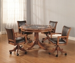 Park View 52''W x 31''H Multi Function Dining and Game Table - Medium Brown Oak [4186GTB-FS-HILL]