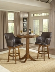 Park View 36'' Diameter Round Wood Bar Height Dining Table - Medium Brown Oak [4186PTB-FS-HILL]
