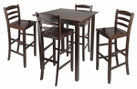 Parkland 5-Pc High Table Set with 4 Ladder Back Chairs [94559-FS-WWT]
