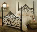 Parkwood Classic Metal Post Bed Set with Rails - King - Black Gold [1450BKR-FS-HILL]
