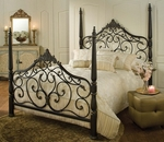 Parkwood Classic Metal Post Bed Set with Rails - Queen - Black Gold [1450BQR-FS-HILL]