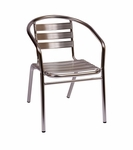 Parma Outdoor Stacking Aluminum Arm Chair [MS0021-BFMS]