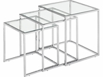 Pasos Nesting Table with Clear Glass [401105-FS-ZUO]