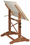 Pavillion Art and Drawing Table Unfinished Wood Top - 42''W [AP442-FS-ALV]