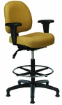 Pearl II 300 Series Small Back Single Shift Adjustable Swivel and Seat Height Stool [PE222-M20-FS-SEA]
