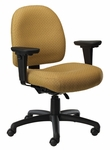 Pearl II 400 Series Medium Back Mutliple Shift Adjustable Swivel and Seat Height Task Chair [PE311-Q30-FS-SEA]