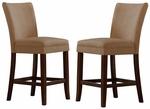 Peat Microfiber Cherry Parson Barstool-Set Of 2 [721PT-24-2PC-FS-HOM]