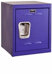 Pep Rally Purple Kids Mini Locker Unassembled - 15''W x 15''D x 24''H [HKL1515-24-1PR-HAL]