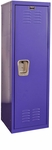 Pep Rally Purple Kids Standard Locker Unassembled - 15''W x 15''D x 48''H [HKL151548-1PR-HAL]