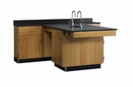 Perimeter Science Workstation with Door and Drawer [2826K-DW]