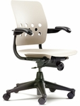Ph.D. Executive Series Task Chair with Plastic Seat - 25''W x 25''D x 33.5''H - 38''H [2638A-VCO]