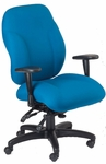 Phantom 24.5'' W x 26'' D x 41'' H Adjustable Height and Width High-Back Chair with Executive Control - Black Base [E-89884-FS-EOF]