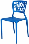 Phoenix Outdoor Stackable Armless Side Chair - Blue [SC-2602-162-BLUE-SCON]