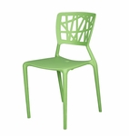 Phoenix Stackable Side Chair - Green [SC-2602-162-GREEN-SCON]