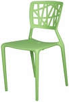 Phoenix Outdoor Stackable Armless Side Chair - Green [SC-2602-162-GREEN-SCON]