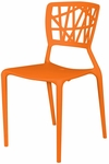 Phoenix Outdoor Stackable Armless Side Chair - Orange [SC-2602-162-ORANGE-SCON]
