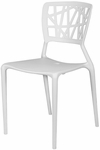 Phoenix Outdoor Stackable Armless Side Chair -White [SC-2602-162-WHITE-SCON]