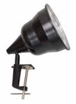 Photography Lamp with Clamp and 6' Power Cord - Black [12011-FS-SDI]